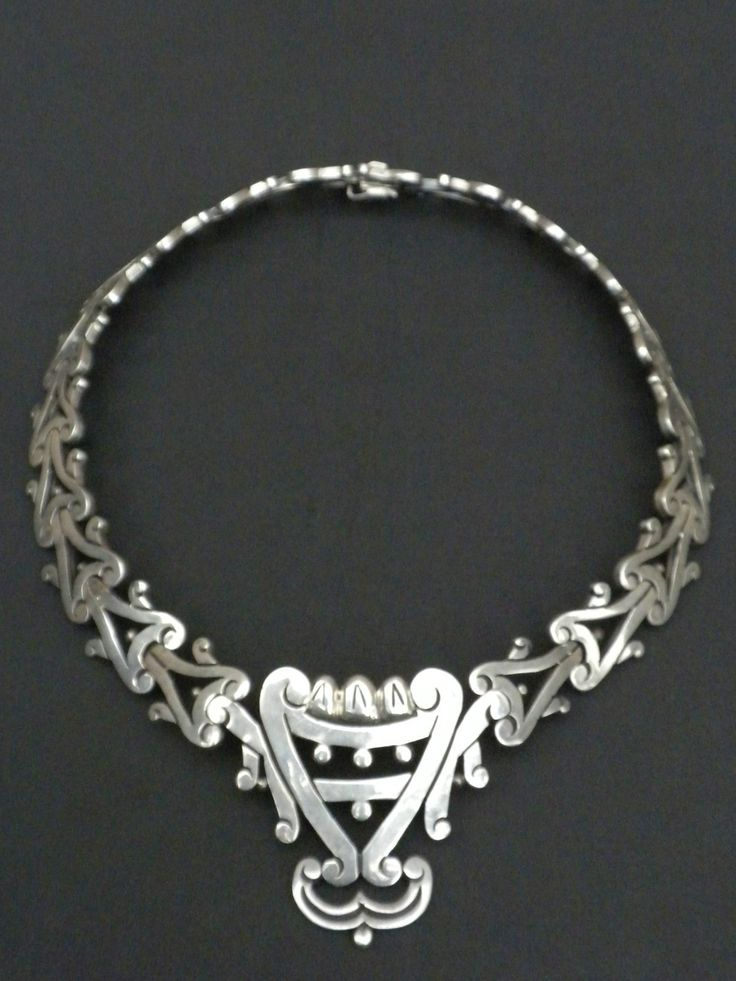 Los Ballesteros Mexican Sterling Silver Necklace 101 Grams