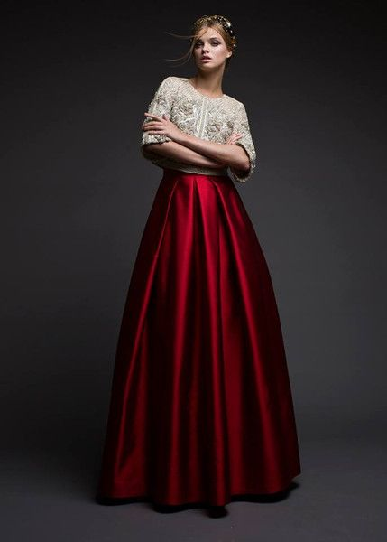 Modest Red Ball Skirt                                                       …