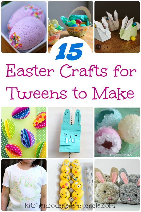 15 Easter Crafts for Tweens to Make - A round up of fun crafts that tweens will love to make for friends and family this Easter. kid craft.