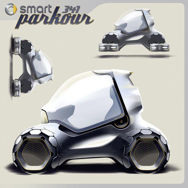 Smart 341 Parkour Future Vehicle Concept by Sylvain Wehnert, Emiel Burki and Phillipp Haban