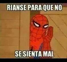 meme spiderman, hombre araña, risa jaja