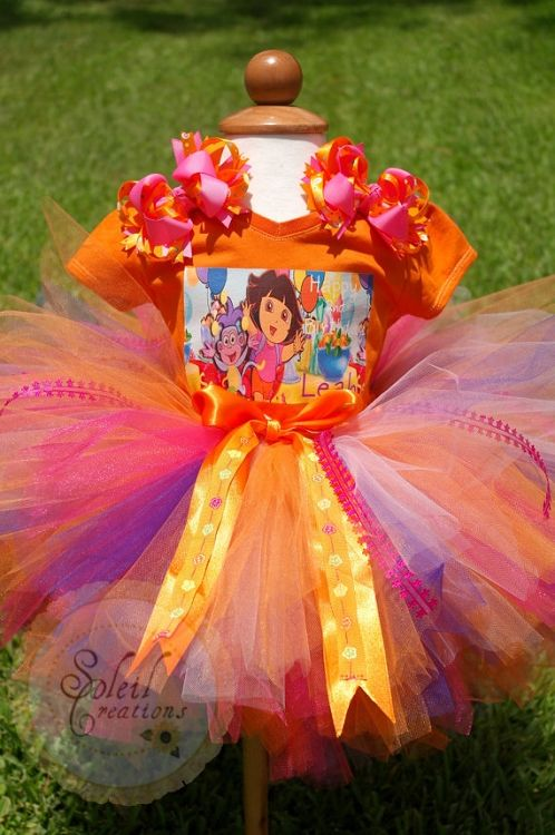 Dora Tutu Birthday Party Outfit! Omg gotta make this for cassidys bday!