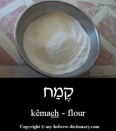 "How to say ""flour"" in Hebrew, including pronunciation by an Israeli: http://www.my-hebrew-dictionary.com/flour.php"