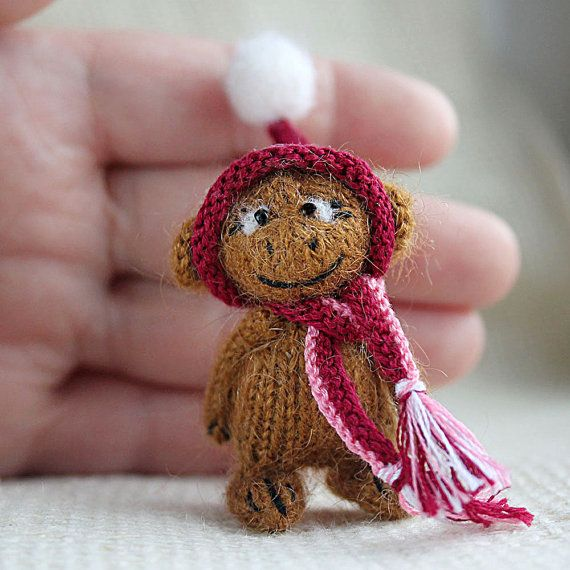 Monkey in the hood by SecretFriends on Etsy