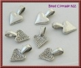 Heart Shaped Glue-on Bails