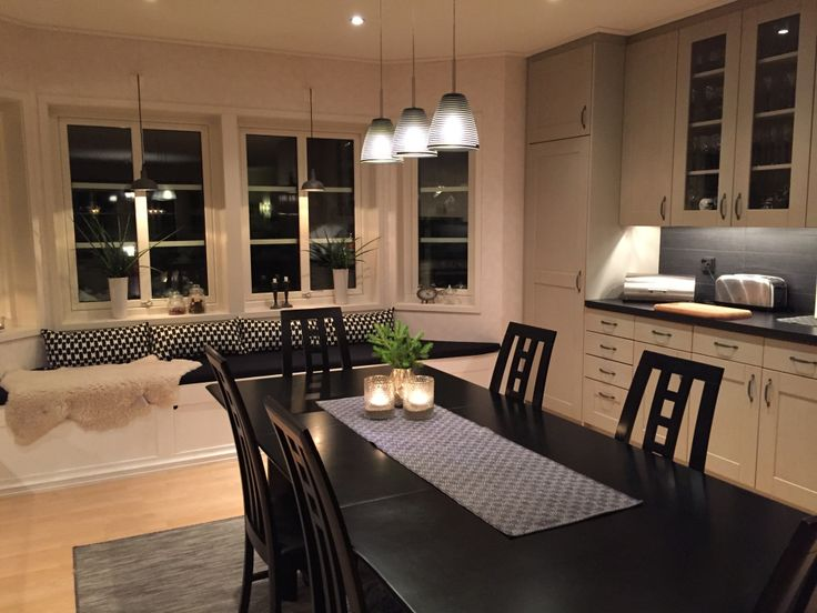 Kitchen Kök, Black, Grey & White