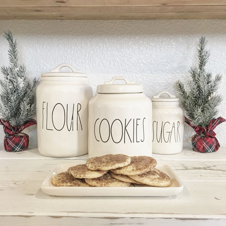 Raedunn canisters! Love these! So cute and simple, this is what Rae Dunn is all about. Home decor blogger. Kitchen. Cookie jar.