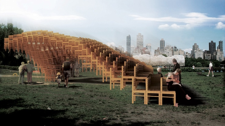 SEAT Pavilion: Who Needs Bricks When You Have 400 Chairs?
