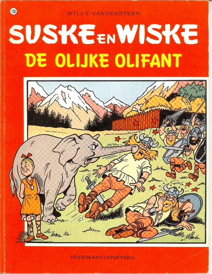 Suske en Wiske no. 170 - De olijke olifant door Willy Vandersteen (Standaard uitgeverij)