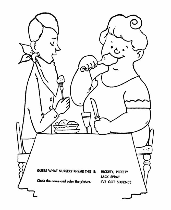 nursery rhymes quiz coloring page