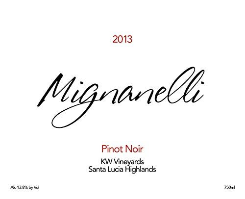 2013 Mignanelli Santa Lucia Highlands KW Vineyards Pinot Noir 750 mL *** Visit the image link more details.