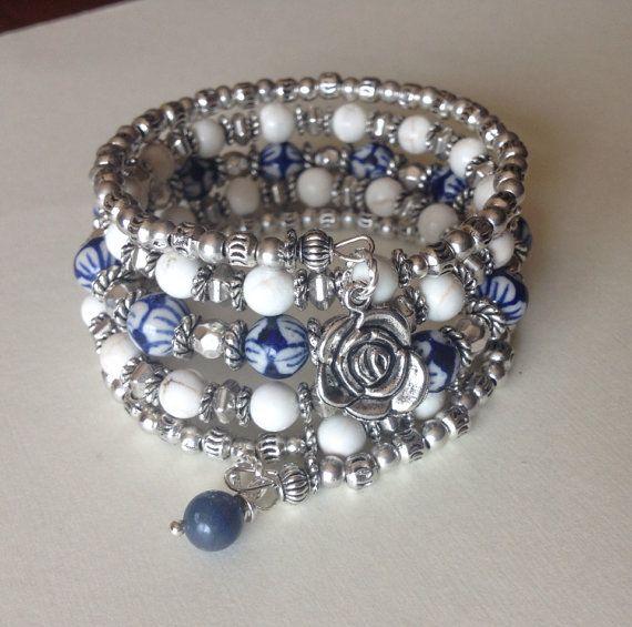 Nantucket Niña Multi Strand Memory Wire Wrap Bracelet