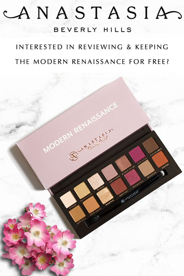 Is the Anastasia Beverly Hills Modern Renaissance worth the money? Find out for yourself when you sign up to become a product tester. In exchange for your review, we'll let you keep the products -- for free!
