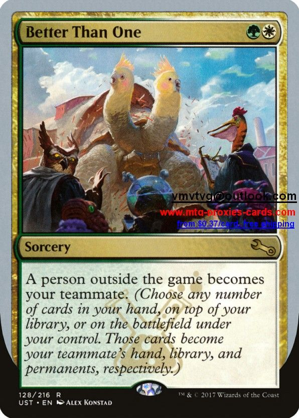 Ust Unstable Magic The Gathering Proxy Cards Customize Mtg Proxy From 0 37 Free Shipping Better Magic The Gathering Cards Magic The Gathering The Gathering