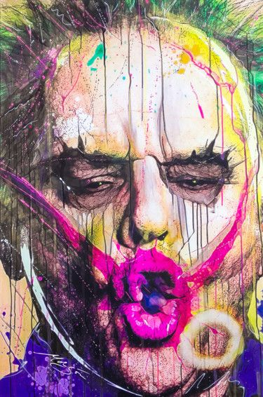 Peinture Jack Nicholoson Joker Batman Neo Pop art