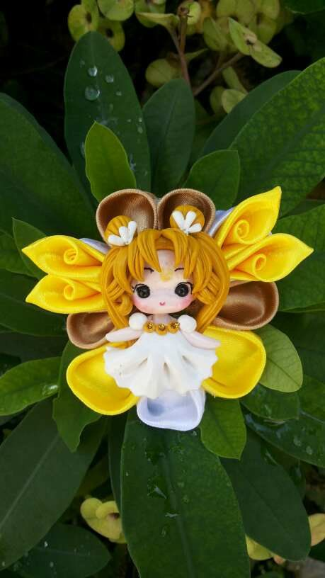 Hey, I found this really awesome Etsy listing at https://www.etsy.com/listing/228736203/handmade-kanzashi-hair-bow-with-princess