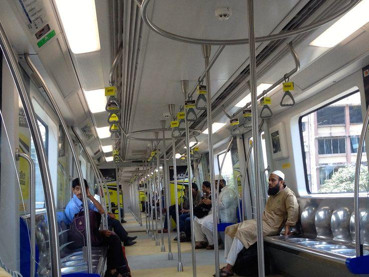 Interiors of the Mumbai Metro