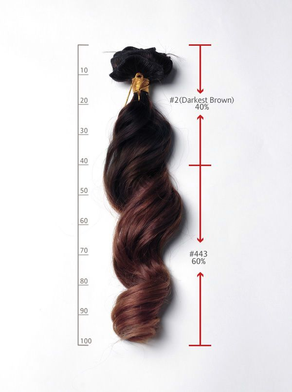 20 inches wavy two tone ombre human hair extensions clip in usw162 115g_s2