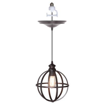 Worth Home Products Instant Screw In Pendant Light with Cage | Hayneedle