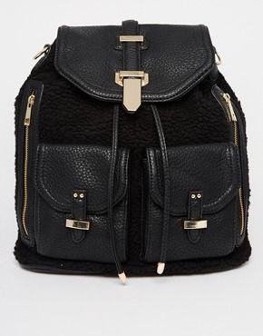 ALDO Dundas Faux Fur Backpack #TravelBright