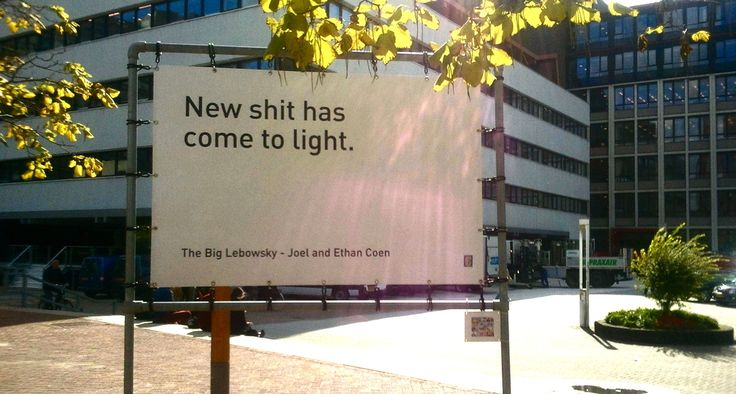 On the campus of VU University of Amsterdam. | University's Awesome Yet Flawed Motivational Sign