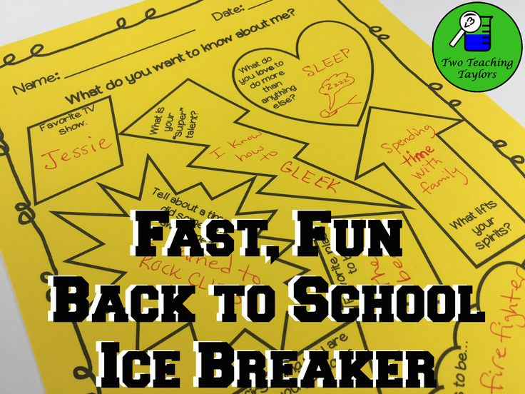 """Student Interest Survey: An Ice Breaker Activity. To help build a sense of community, have the students share in small groups or pick their favorite response and share with the class. I love to play """"guess who"""". Simply collect the surveys and read a response out loud. The class then tries to guess who the survey belongs to."""