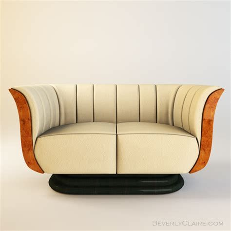 Art Deco Tulip Loveseat & Club Chair - Beverly Claire ...