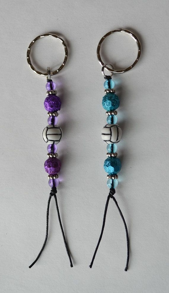 Volleyball key chain / zipper pull with by NoLimitsSpiritWear, $4.00