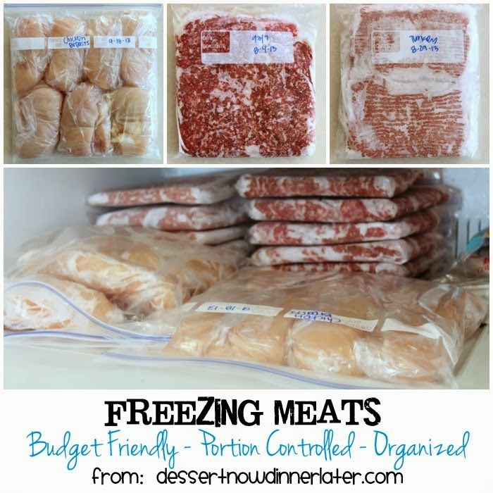 Buying meat in bulk and on sale can save you lots of money.  Learn how to stock up and freeze those meats for later!