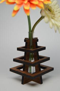 Wooden Bud Vase by LottieandLu on Etsy