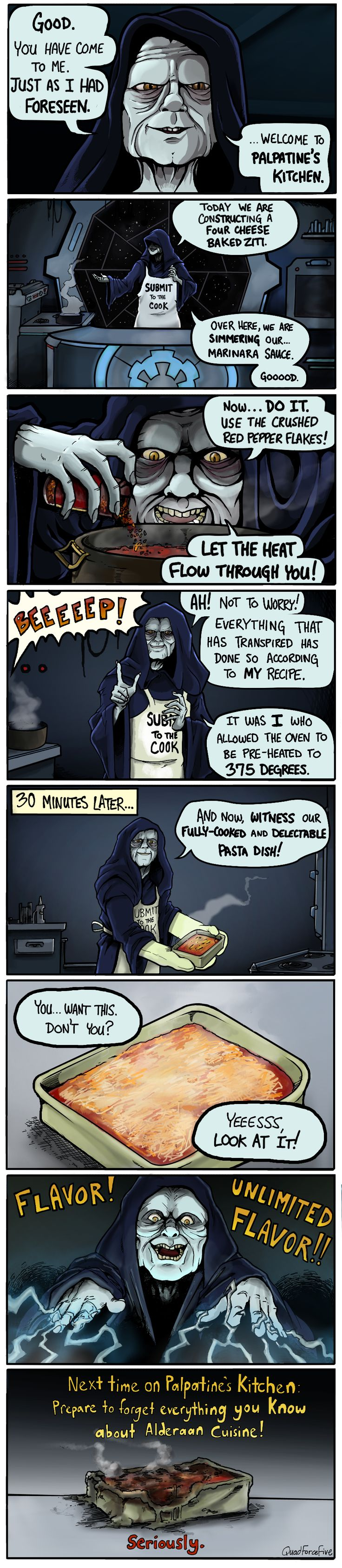 'Palpatine's Kitchen' - Star Wars Comic by Quad Force Five - EpicStream