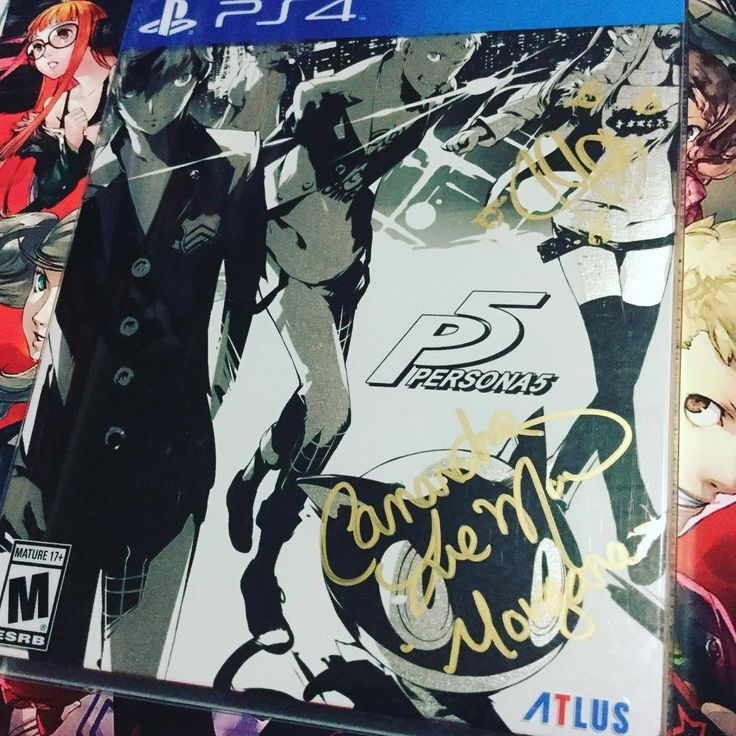Got #cassandraleemorris to sign my copy of #persona5 for the #ps4 ! Now it joins the signature of #ericalindbeck ! Gotta find the rest of the voice actors !!! Thank you for visiting and be sure to...