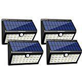 #10: InnoGear Solar Lights 30 LED Outdoor Security Lighting with Motion Sensor Activated Detector Auto On/Off for Patio Garden Back Door Step Stair Fence Deck Yard Driveway Pack of 4