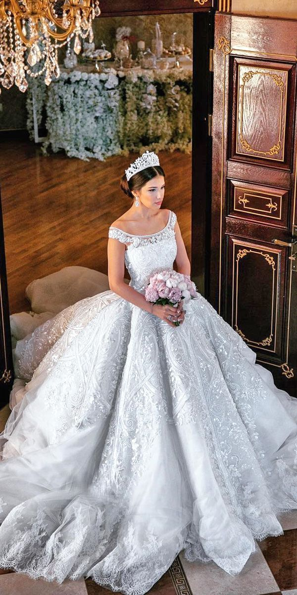 24 Various Ball Gown Wedding Dresses For Amazing Look :heart: See more: http://www.weddingforward.com/ball-gown-wedding-dresses/ #wedding #dresses #ballgown