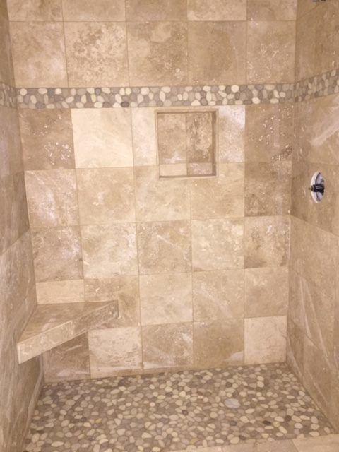 25 Best Pebble Tile Shower Ideas On Pinterest River