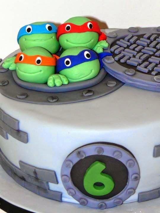 Cake Tortugas Ninja ~ Be Sweet: reposteria creativa