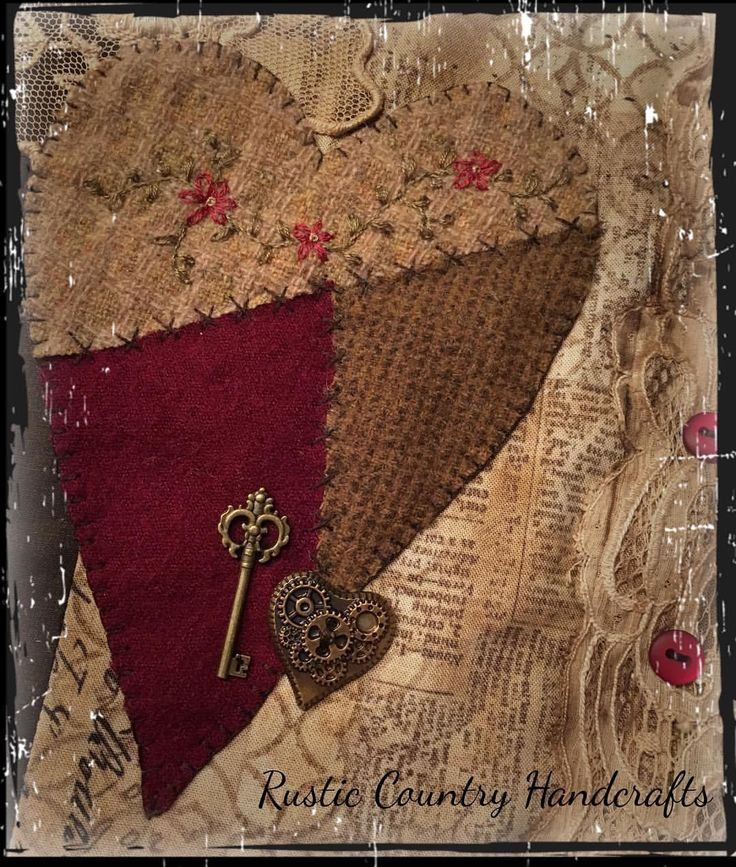 Stitching fun! #handmade #handcrafted #embroidery #vintage #lace #relics #mixedmediaart #heart #crazyquilt
