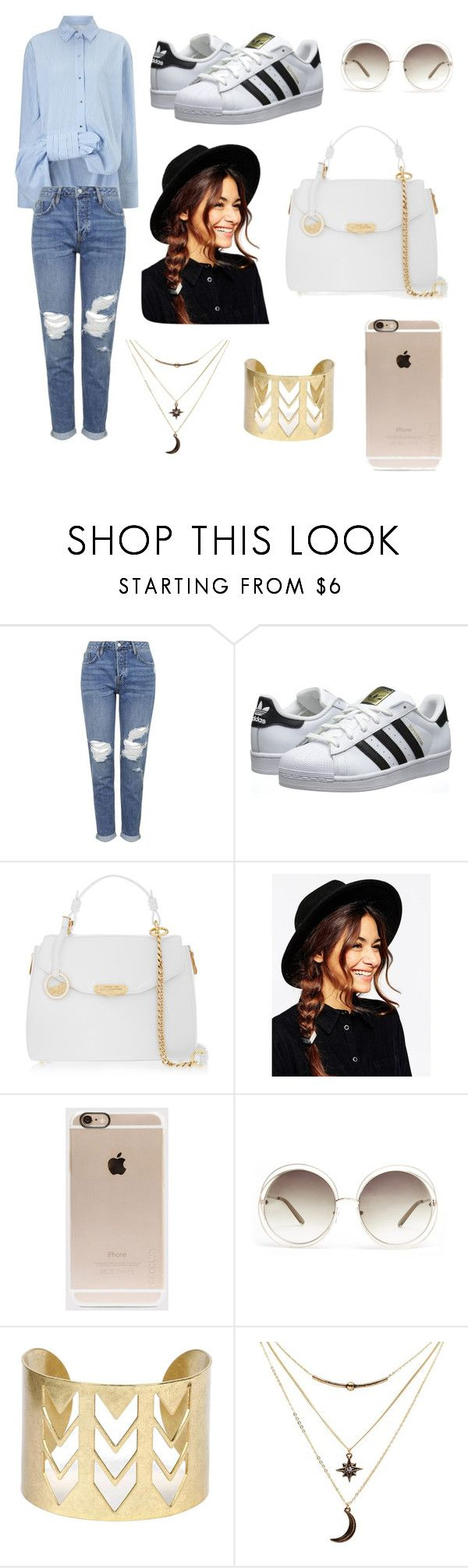 """""""day out with the friends"""" by cos-stacy ❤ liked on Polyvore featuring Victoria, Victoria Beckham, Topshop, adidas Originals, Versace, ASOS, Incase, Chloé and Charlotte Russe"""