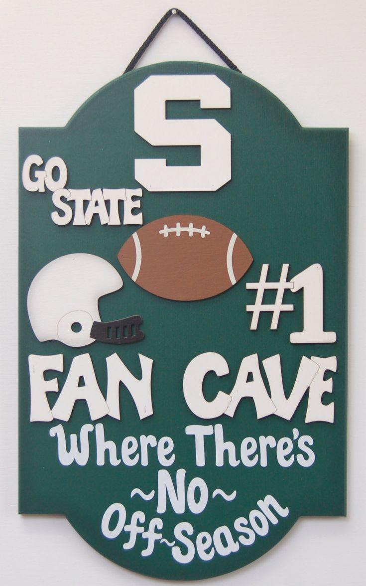 Michigan State football signs Michigan State Spartans Football signs and gifts Spartans Football gifts for guys man cave signs teen by UCsportsbyBill on Etsy