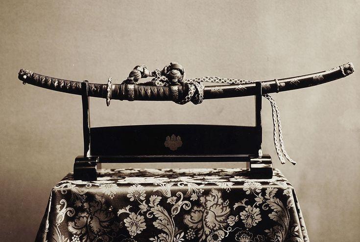 Japanisches Schwert mit Schwertscheide (Saya) | Wilhelm Weimar | 1890-1900 | Museum Für Kunst Und Gewerbe Hamburg | CC BY
