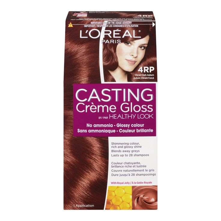 L'Oreal Healthy Look Creme Gloss Hair Color, 4RR Vibrant Dark Auburn, Sweet Cherry