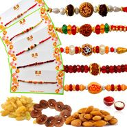 5 Rakhi Sets with Dry Fruits