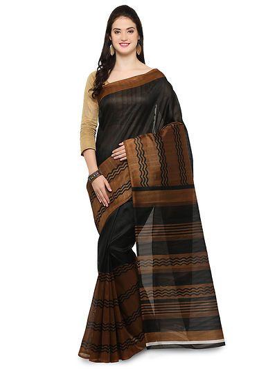 191eb3128804a9 Sonakshi Silk Vol-3 Black Color Printed Bhagalpuri Saree