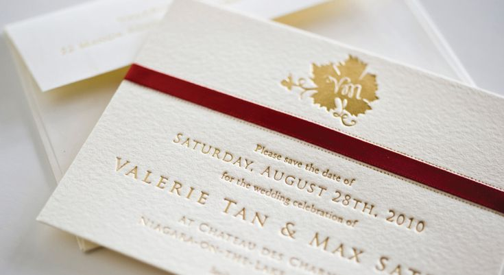 And sometimes.... less is more.  Stunning matte gold press onto Ecru Cotton stock with custom emblem. Palettera Custom Correspondences & Graphic Design, Luxury Couture Wedding Invitations, Letterpress Stationery | Toronto, Markham, Unionville, Hong Kong, International