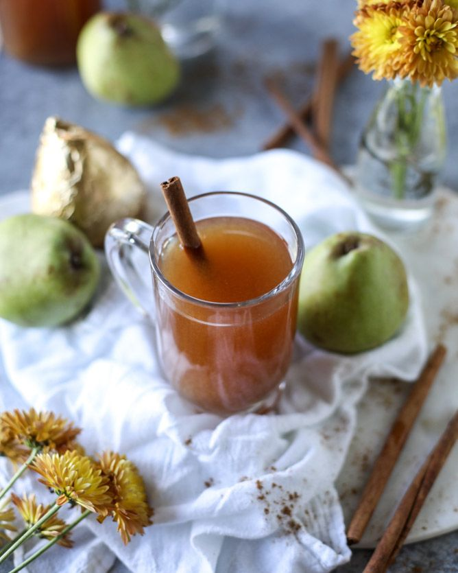 [this post is in partnership with Harry and David. I'm creating some wonderful recipes with their royal riviera pears this season, starting with pear cider and I can't wait for you guys to see what I've come up with! xoxo] Pass the pear cider please! I have the best best best warm and comforting drink that …