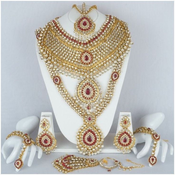 Indian Bollywood Diamante Designer Gold Tone Necklace Bridal Fashion Jewelry Set #Handmade
