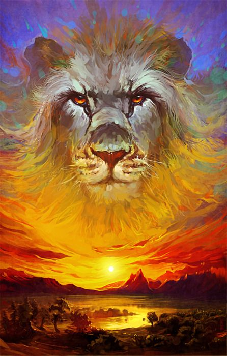 it looks beautiful extremely with the lion in the sunset wow wonderful I like it