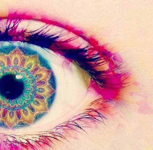 trippy eye girly colorful eye cool weird trippy