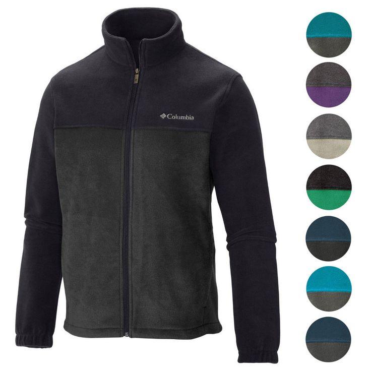 Columbia NEW Two Tone Colorblock Mens Original Winter Fleece Jacket $60 #Columbia #FleeceJacket