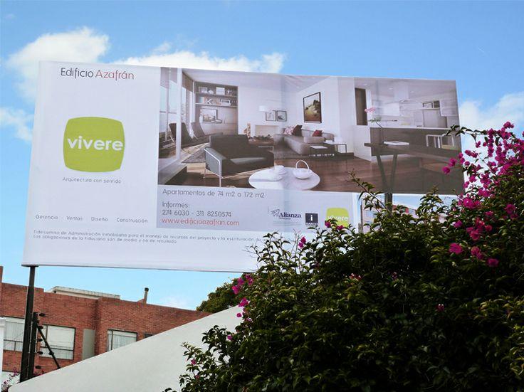 EDIFICIO AZAFRÁN [ WEB · IDENTIDAD DE MARCA ]  Realizamos la imagen del proyecto de ventas del Edificio Azafrán en Bogotá.  La implementamos en su website , brochure de ventas, avisos en prensa, flyers y en la valla promocional del edificio
